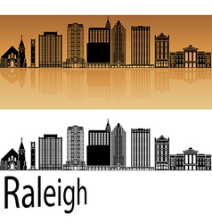 Raleigh V2 skyline in orange vector image