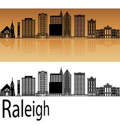 Raleigh V2 skyline in orange vector