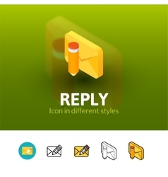 Reply icon in different style vector image