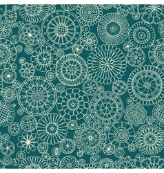 Seamless asian ethnic floral retro doodle vector