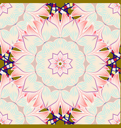Seamless background pattern flowers on beige vector