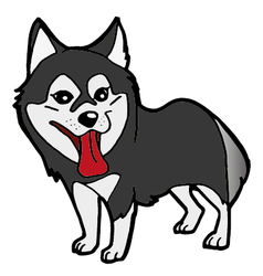 Siberian Husky cartoon vector