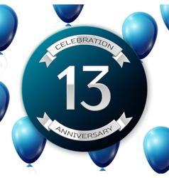 Silver number thirteen years anniversary vector