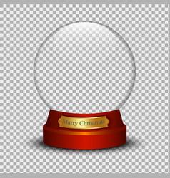 snow ball vector image