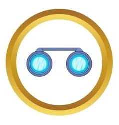 Sport binoculars icon vector