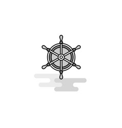 steering web icon flat line filled gray icon vector image