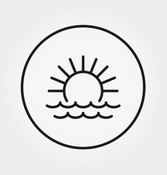 sunrise sunset at sea icon editable vector image