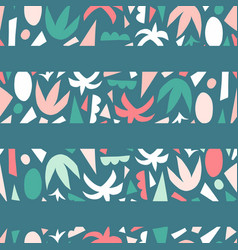 tropical stripes seamless pattern abstract vector image