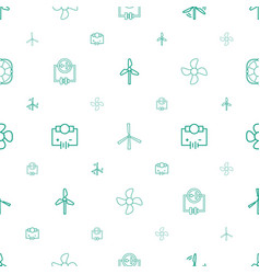 turbine icons pattern seamless white background vector image