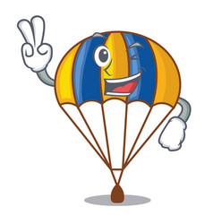 Two finger parachute isolated with in the cartoons vector