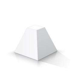 White frustum square pyramid vector