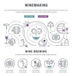 Winemaking Web Banner 5 vector image