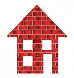 brick house vector image