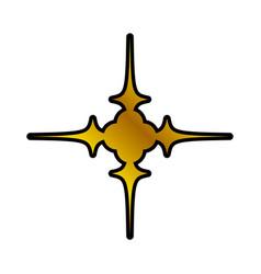 decoration ornament element golden vector image
