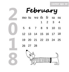 february dog vector image