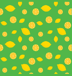 fruits lemon seamless patterns vector image vector image