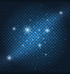 galaxy sparkly blue background vector image vector image