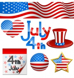July 4th symbols vector image