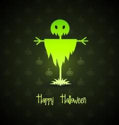 scarecrow for halloween vector image vector image