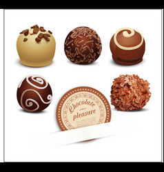 Set of chocolates vector