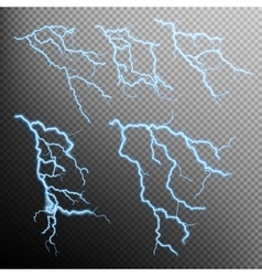Set of lightning natural light EPS 10 vector image vector image