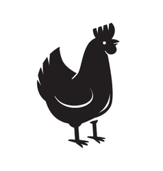 black hen icon vector image
