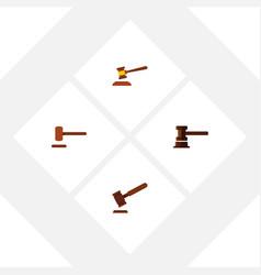 flat icon hammer set of defense justice hammer vector image