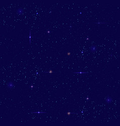 night starry sky seamless background small vector image vector image