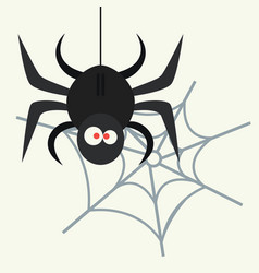 spider silhouette arachnid fear graphic flat scary vector image vector image