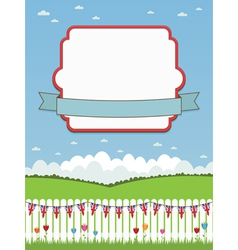 uk picket fence and frame vector image vector image