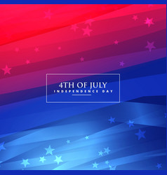 Beautiful 4th of july background vector