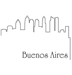 Buenos aires city one line drawing vector