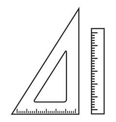 lineups school icons vector image vector image
