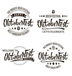 oktoberfest beer festival celebration vector image