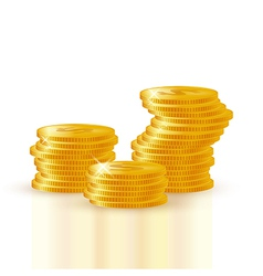 Pile of gold coins vector image vector image