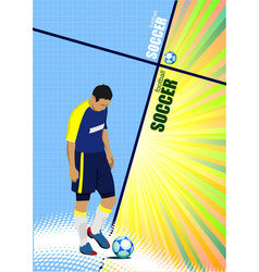 poster of football player soccer colored for vector image vector image