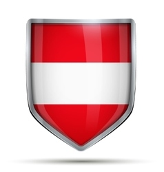 Shield with flag Austria vector image vector image