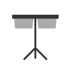 timpani music instrument icon vector image vector image