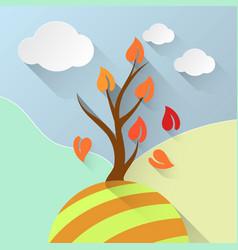 tree leaf info vector image