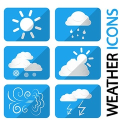 Weather Icons Set Symbols with Clouds Sun and vector image vector image