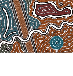 A based on aboriginal style of dot pa vector image
