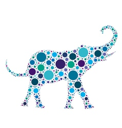 blue dotted elephant vector image vector image