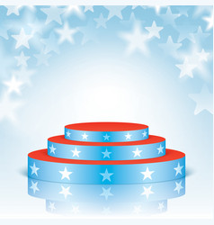 Blue scene with stars on a bokeh background vector