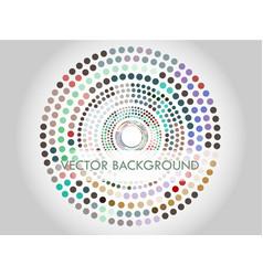 circles in circles vector image