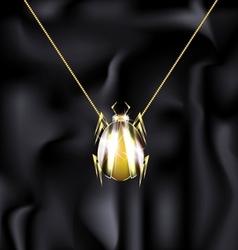jewelry beetle vector image vector image