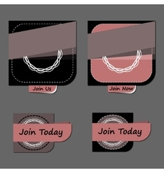 Modern abstract badges collection vector image vector image