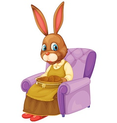 Rabbit sitting vector image vector image