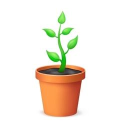 The flowerpot vector image
