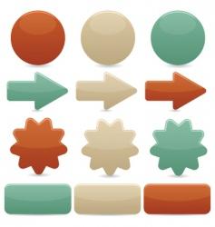 web navigation vintage colors vector image vector image