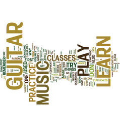you can learn to play music on guitar text vector image